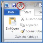 Outlook-Aufgaben Symbol in Word 2010