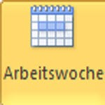 Outlook-Kalender Wochenansicht aus der Multifunktionsleiste