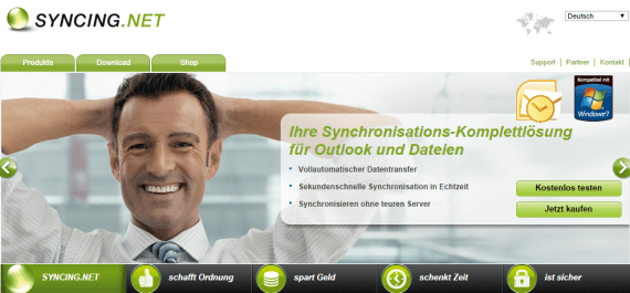 Outlook synchronisieren mit Syncing-net