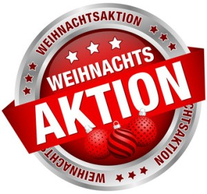 Weihnachtsaktions-button