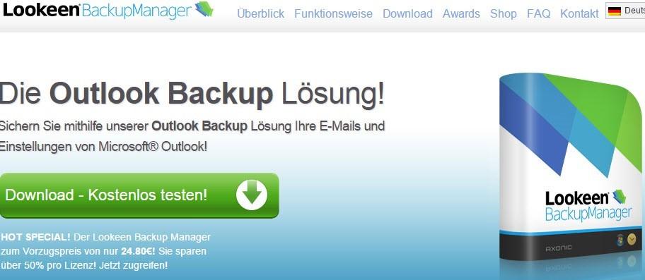 Outlook-Backup mit LookenBackupManager