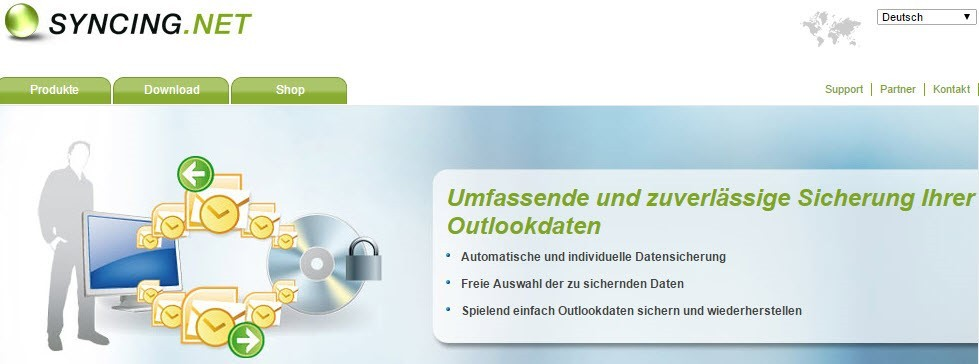 Outlook-Backup-software von Syncing.net